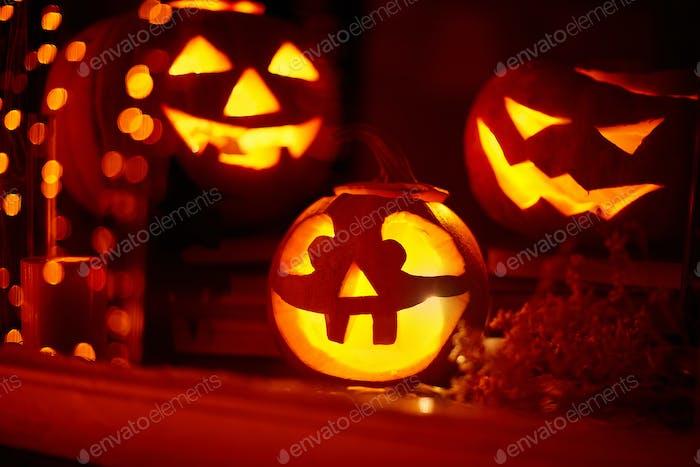 Symbols of spooky holiday