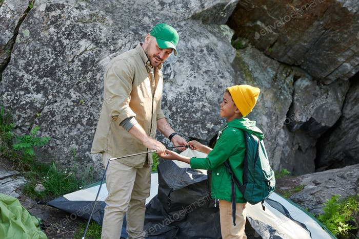 Go camping with father