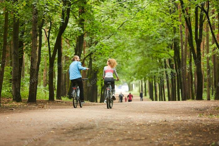 Cyclists talking
