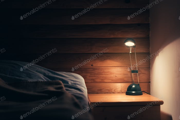 Thumbnail for Bedroom lamp on a night table
