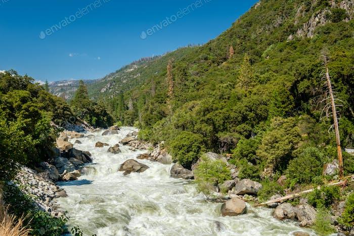 Merced River landscape in Yosemite