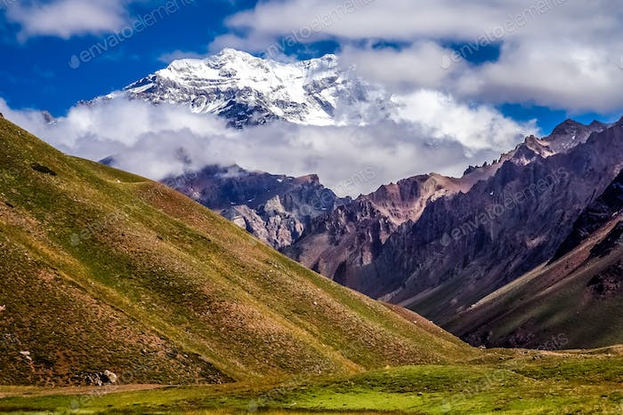 Aconcagua in clouds