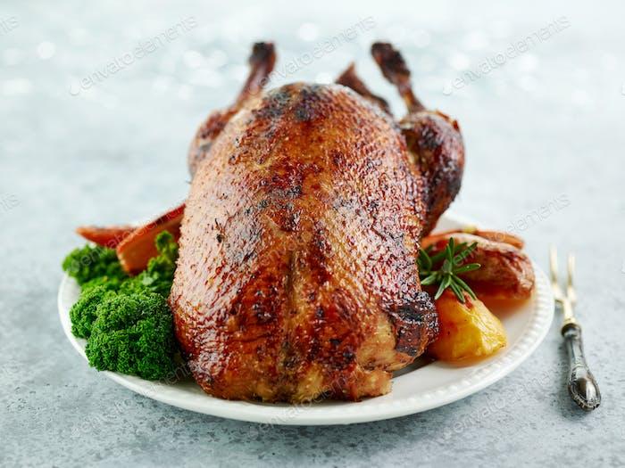 freshly roasted duck roast