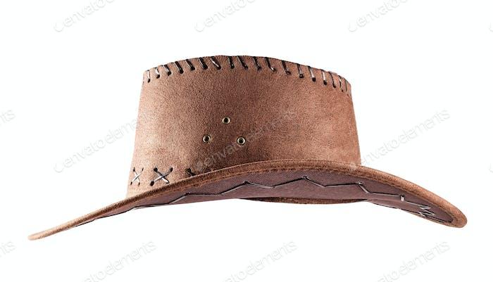 Leder Cowboy-Hut Shot Seite