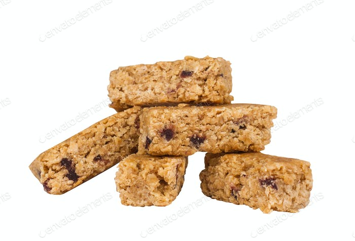 vegan bars isolated on white background