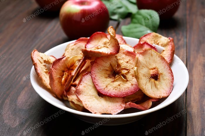 Fruit snack dehydrated apple chips