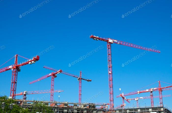 Big construction site in Berlin