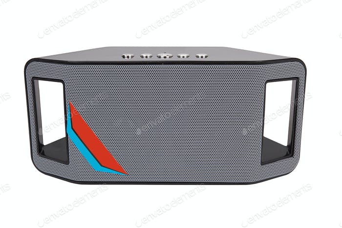 Portable speaker isolated