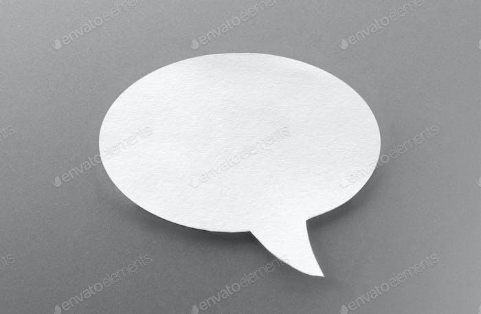 one speech bubbles