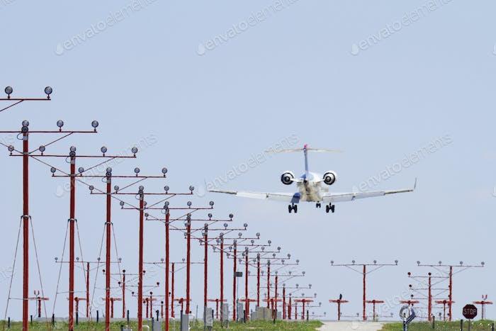 Flugzeug Landung
