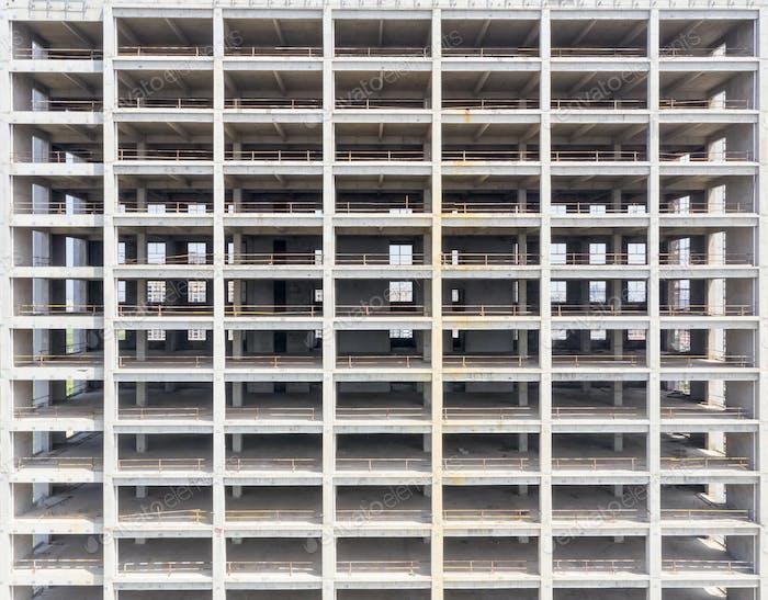unfinished building closeup