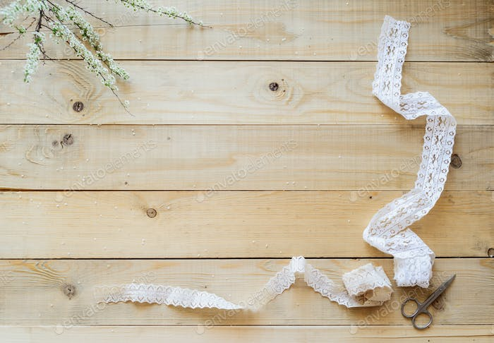 lace ribbon to decor