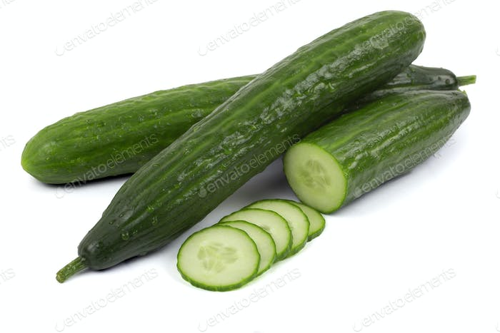 Cucumber with slices