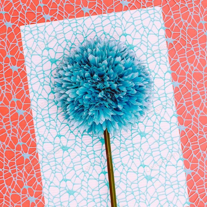 Blue flower. Minimal art