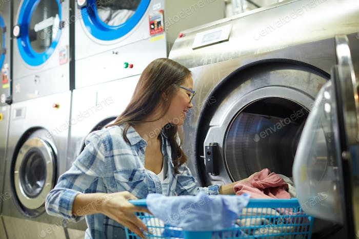 Working as laundress