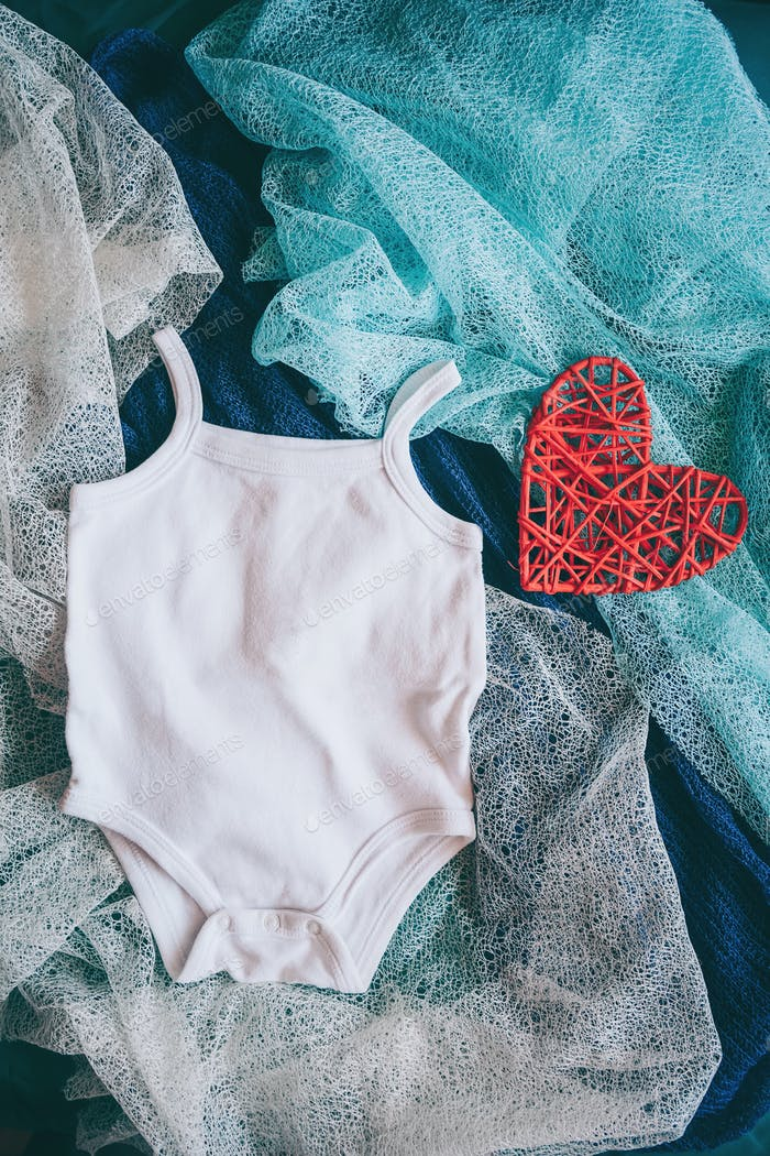 White summer body for a newborn baby