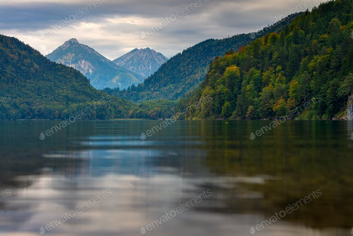 Lake Alpsee in the Bavarian Alps