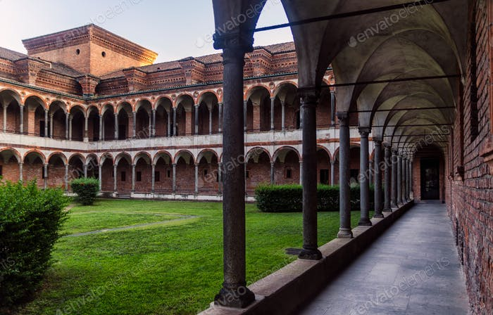 Cloister of the University of Milan