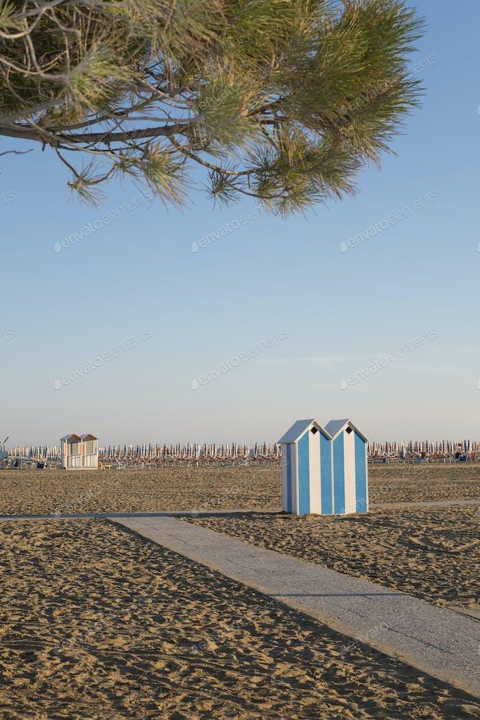 Empty beach on a sunny summer day