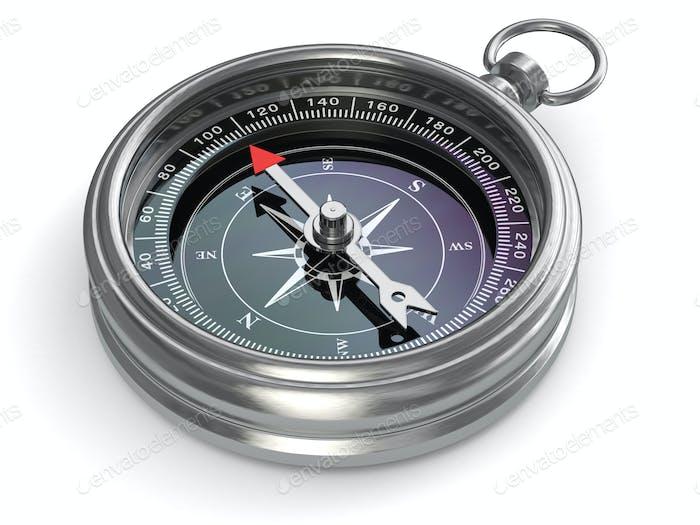 Silver compass