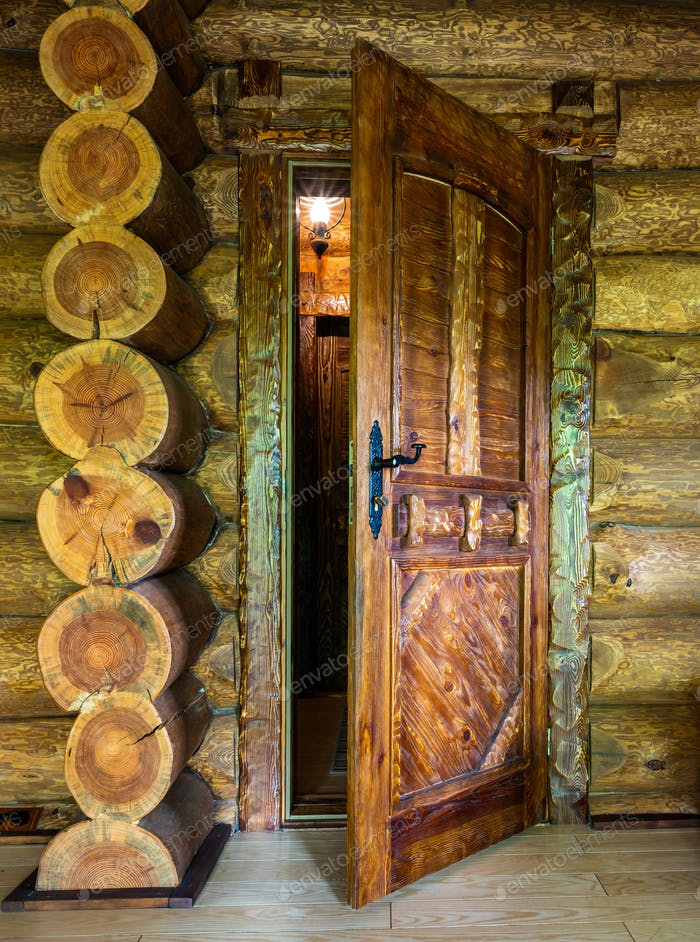Door of a country house