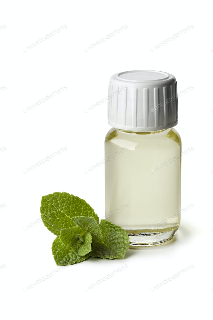 Peppermint oil in a bottle