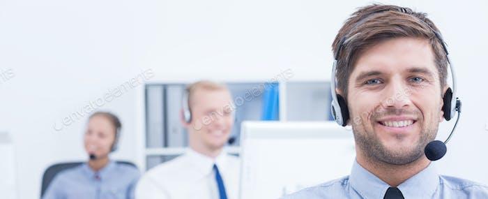 Telemarketing staff at work