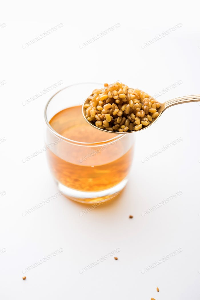Fenugreek Seeds Or Methi Dana Drink