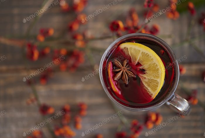 Warming up by degustating mulled wine