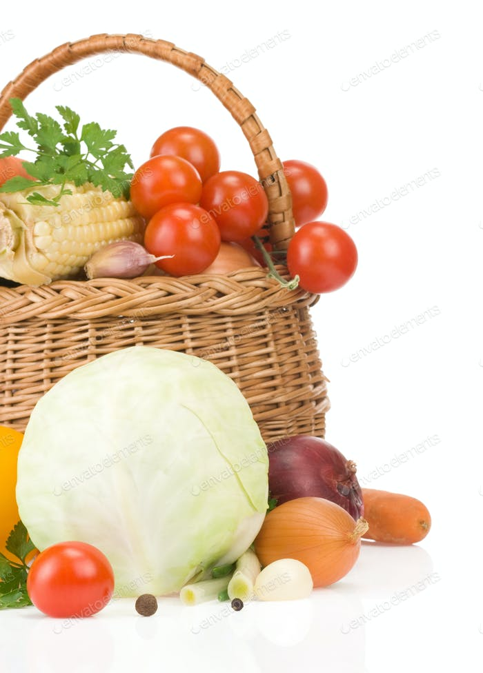 ripe vegetable food and spices