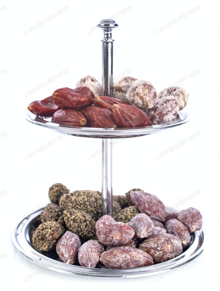 display dish and saucisson