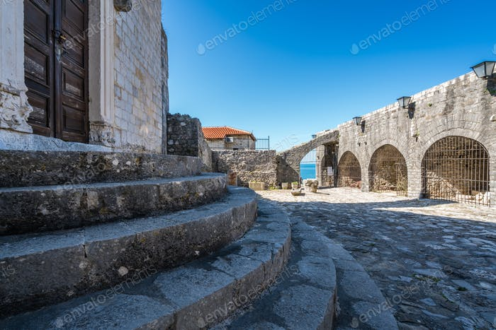 Entrance to Archaeological Museum in Ulcinj