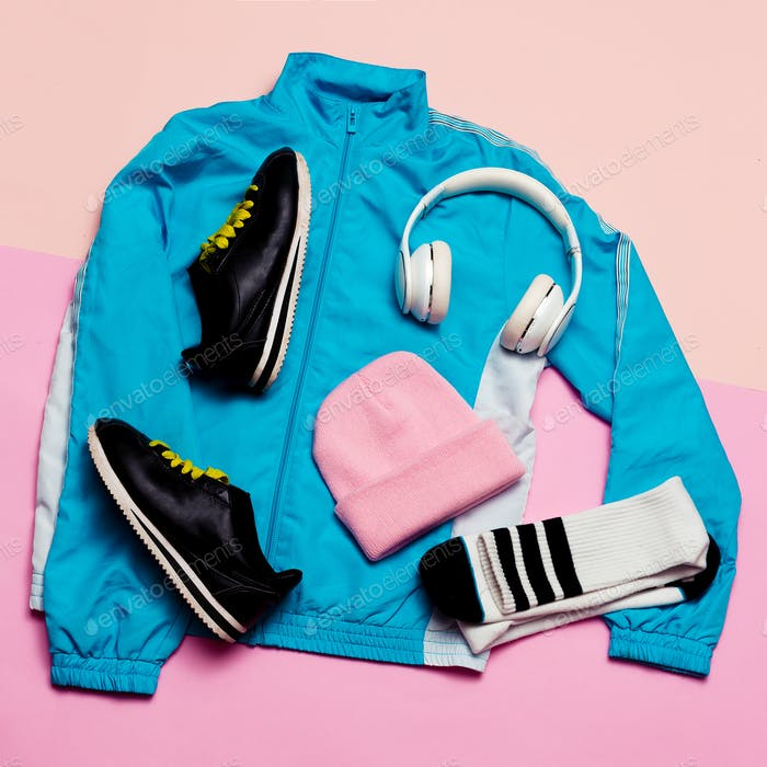 Fashionable Sports Jacket, Urban style.Accessories headphones, g