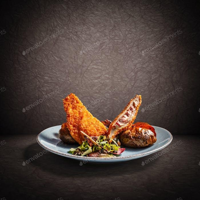 Chicken breast stuffed with ricotta