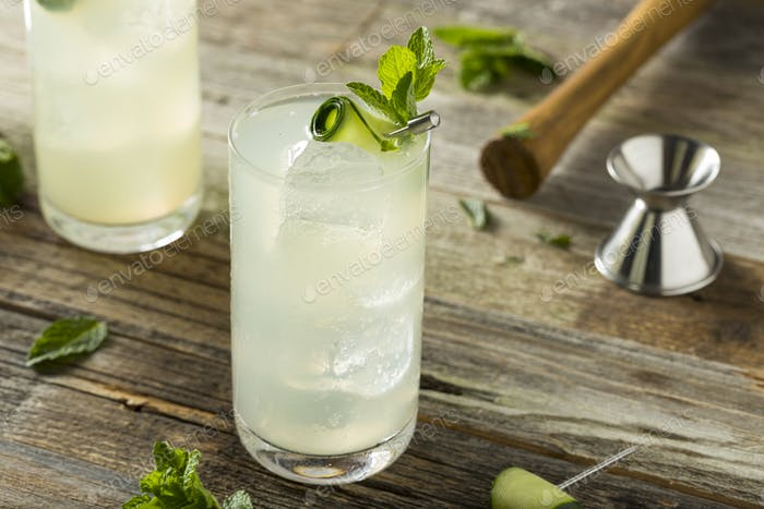 Refreshing Cucumber Gin Spritz Cocktail