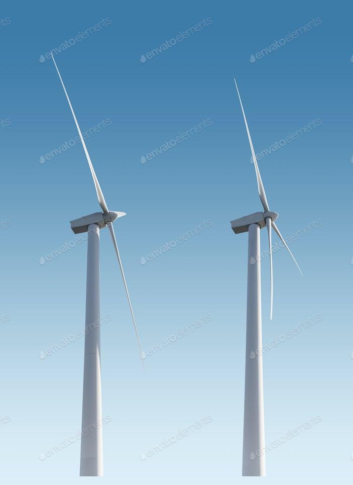 Windkraftanlagen isoliert