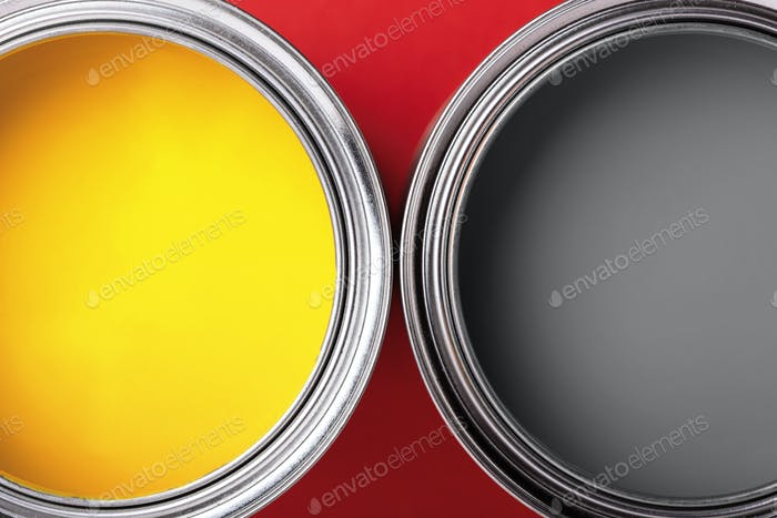 Yellow and Gray Paints.