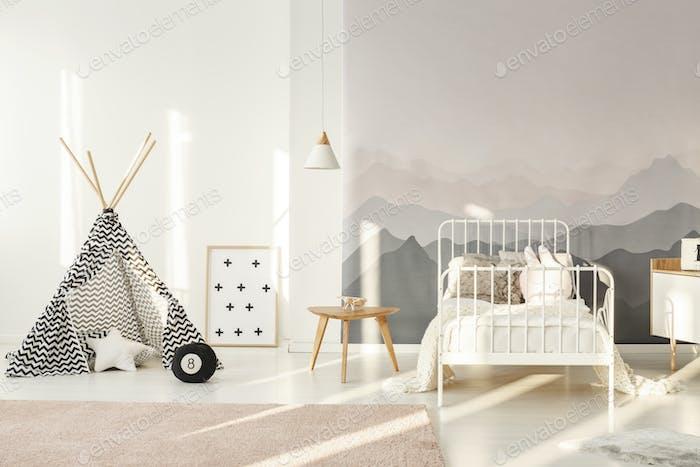 Teepee in kids room