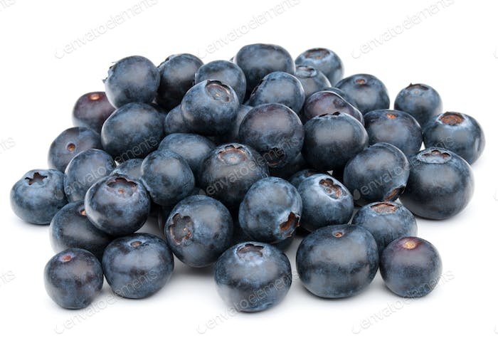 blueberry or bilberry or blackberry or blue whortleberry or huckleberry isolated on white