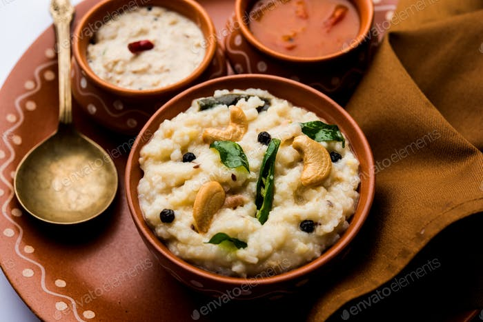 South Indian food Ven pongal