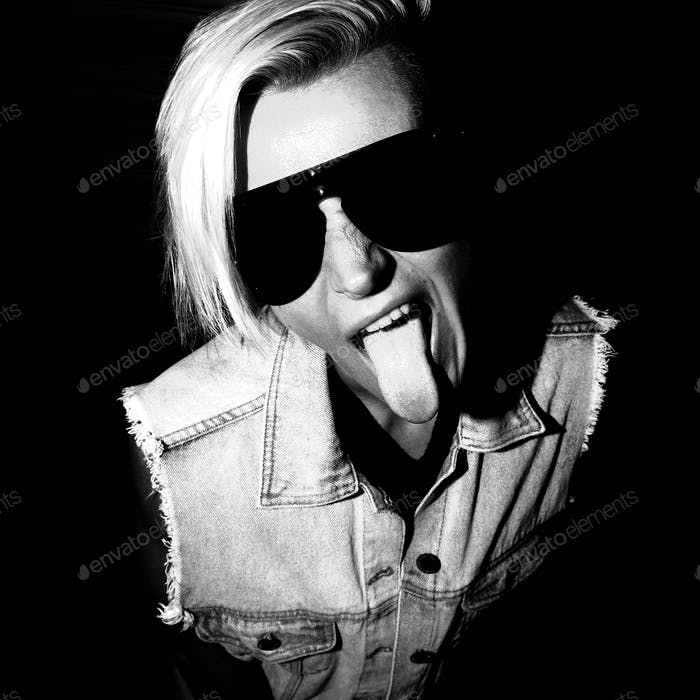 Portrait Swag Blonde Black-and-white Party style