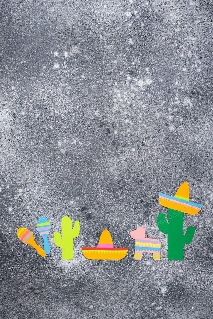 Cinco de mayo, Mexican fiesta day concept