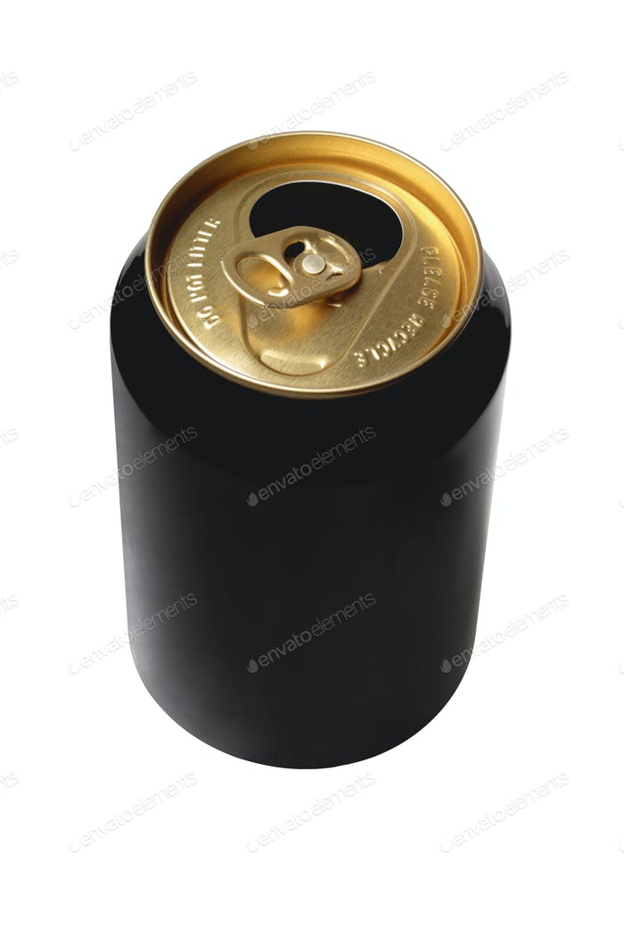 Empty Black Beer Can