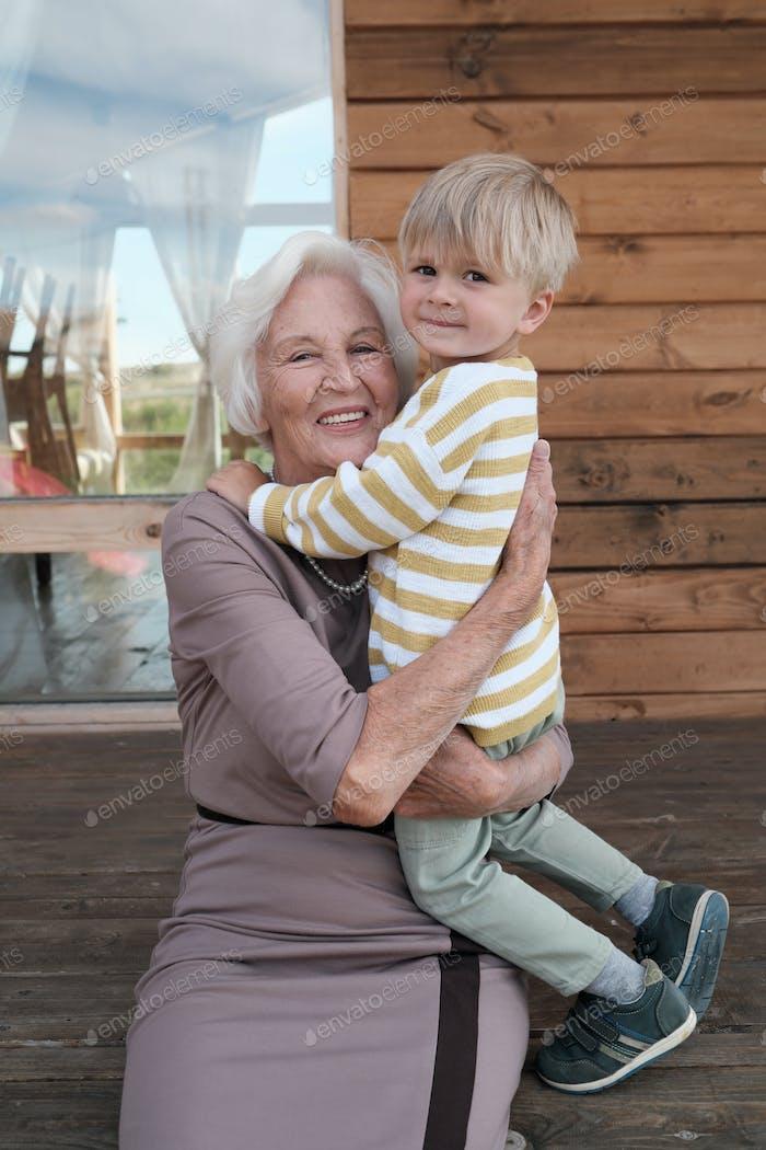Happy grandmother with her grandchild