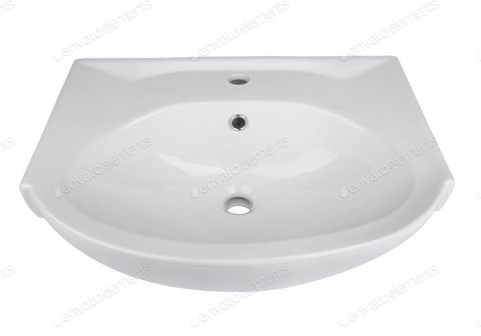 Washbasin isolated on a white
