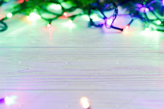 Weihnachtsrahmen Girlande Lichter