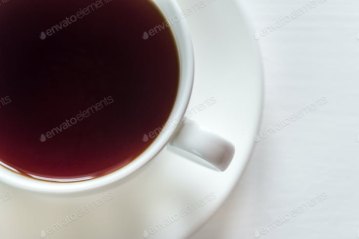 Cup of tea on the white background