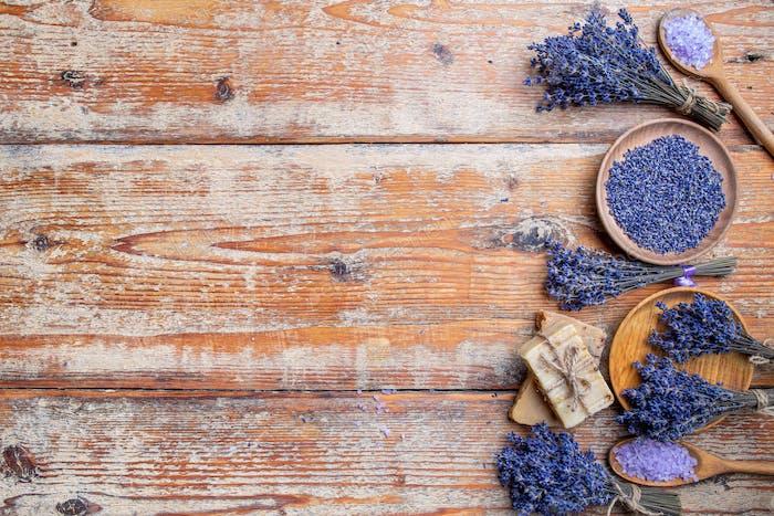Lavendelspa-Konzept