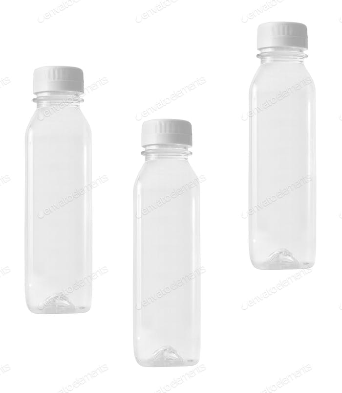 Plastic bottles isolated
