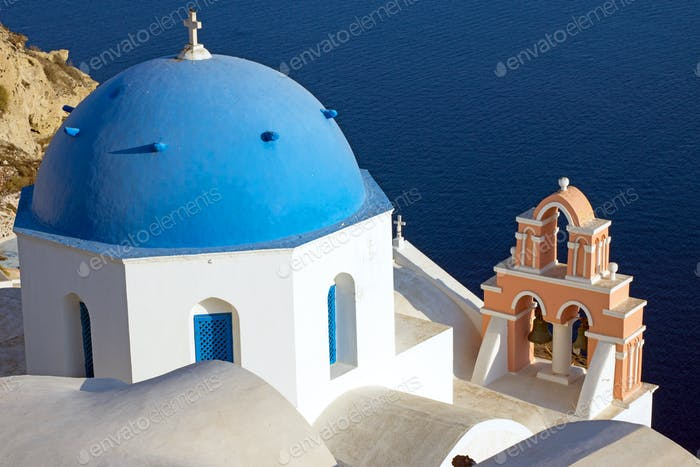 Beautiful church in Oia